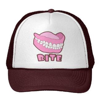 False Teeth Dentures Bite Trucker Hat