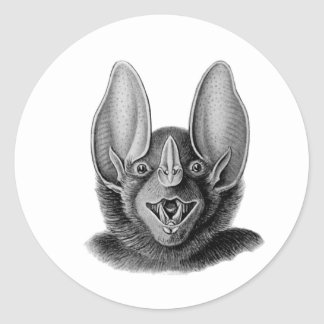 False Vampire Bat Round Sticker