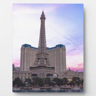Falsificación de Eiffel del viaje de París Las Placas De Plastico