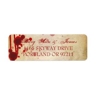Falsificación de la dirección del boda de Hallowee Etiquetas De Remite