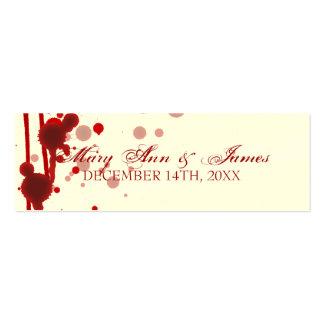 Falsificación de la etiqueta del favor del boda de plantilla de tarjeta de visita
