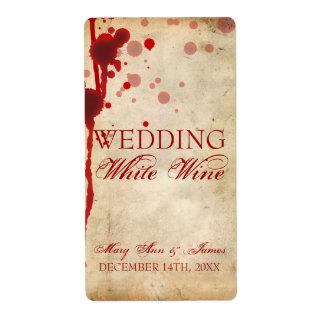 Falsificación de la etiqueta del vino de Halloween Etiquetas De Envío