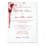 Falsificación del boda de Halloween del vampiro Invitación 11,4 X 15,8 Cm