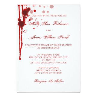 """Falsificación del boda de Halloween del vampiro Invitación 4.5"""" X 6.25"""""""
