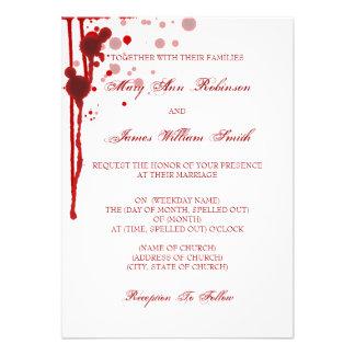 Falsificación del boda de Halloween del vampiro ro Comunicados