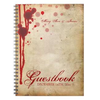 Falsificación del Guestbook del boda de Halloween Libro De Apuntes