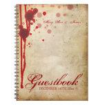 Falsificación del Guestbook del boda de Halloween  Libreta Espiral
