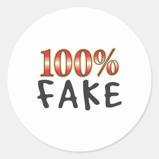 Falsificación el 100 por ciento pegatina redonda