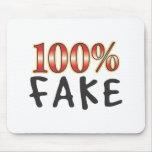 Falsificación el 100 por ciento tapete de raton
