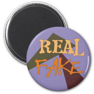 Falsificación real imán redondo 5 cm