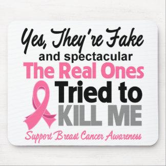 Falsificación y Spectacular - cáncer de pecho Tapete De Ratón