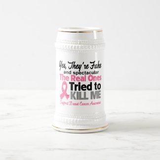 Falsificación y Spectacular - cáncer de pecho Taza De Café