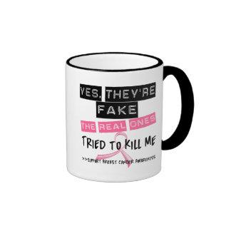Falsifique los reales intentados para matarme cánc taza a dos colores