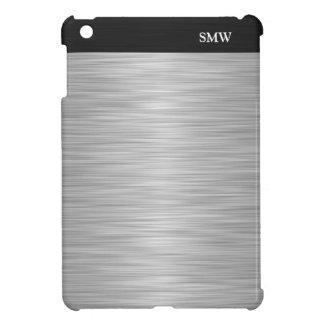 Falso acero inoxidable personalizado y negro iPad mini cárcasas