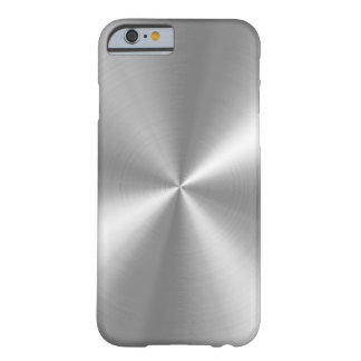 Falso aluminio cepillado de PixDezines Funda Barely There iPhone 6