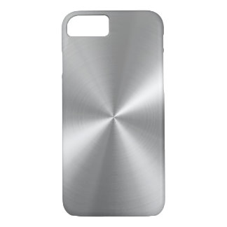 Falso aluminio cepillado de PixDezines Funda iPhone 7