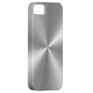Falso aluminio cepillado de PixDezines Funda Para iPhone SE/5/5s