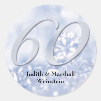 Falso aniversario del diamante 60.o pegatinas