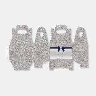 Falso arco de plata de la marina de guerra de las caja para regalo de boda