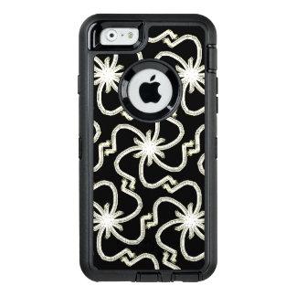 Falso art déco bonito Starbursts del hilo del oro Funda OtterBox Defender Para iPhone 6