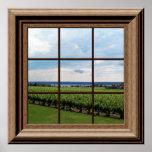 Falso arte de la pared de la escena del viñedo del impresiones