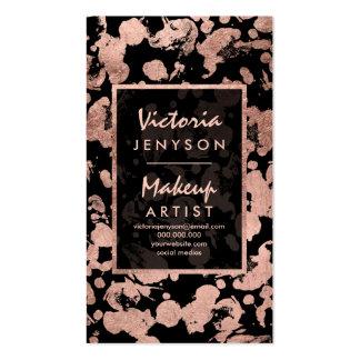 Falso artista de maquillaje color de rosa moderno tarjetas de visita