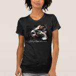 Falso azul del doble T/gato/vaca de Grn Camiseta