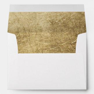 Falso boda de lujo de la hoja de oro sobres