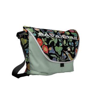 Falso bordado del vintage usted elige colores bolsa de mensajeria
