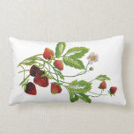 Falso bordado - fresas almohadas