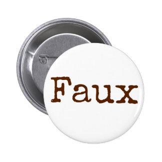 Falso botón (marrón)