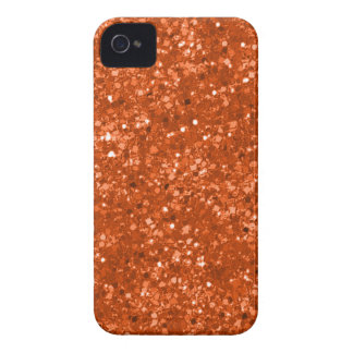 Falso brillo anaranjado Case-Mate iPhone 4 protectores