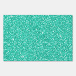 Falso brillo azul claro de neón vibrante de moda f