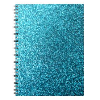 Falso brillo azul libro de apuntes
