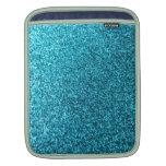 Falso brillo azul mangas de iPad