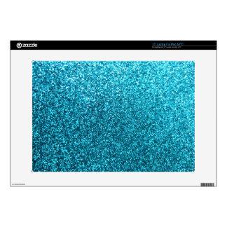 Falso brillo azul skins para 38,1cm portátiles