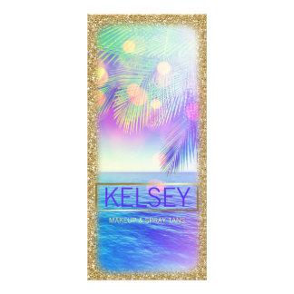 Falso brillo de la palmera de la tarjeta radiante tarjetas publicitarias personalizadas