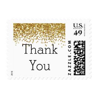 Falso brillo del oro sellos postales
