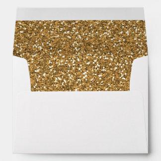 Falso brillo del oro sobres
