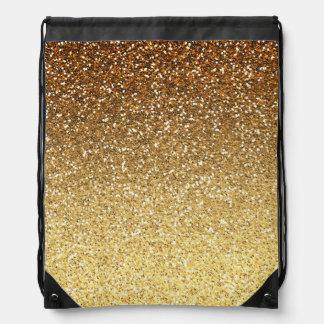 Falso brillo Ombre del oro Mochilas