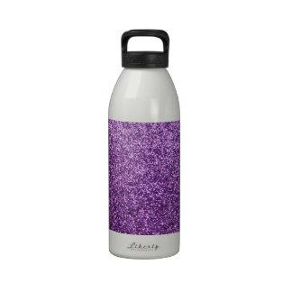 Falso brillo púrpura botella de agua reutilizable