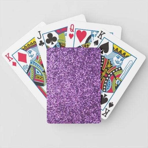 Falso brillo púrpura baraja cartas de poker