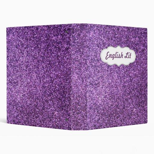 "Falso brillo púrpura carpeta 1"""