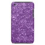 Falso brillo púrpura Case-Mate iPod touch protectores