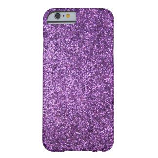 Falso brillo púrpura funda para iPhone 6 barely there