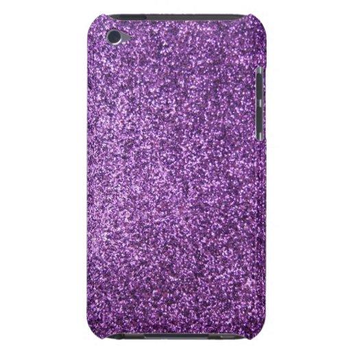 Falso brillo púrpura iPod touch Case-Mate protector