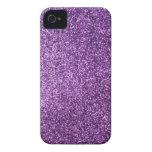 Falso brillo púrpura iPhone 4 carcasas