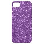 Falso brillo púrpura iPhone 5 carcasa