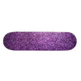 Falso brillo púrpura patinetas personalizadas
