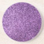 Falso brillo púrpura posavasos diseño